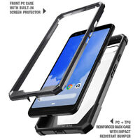Google Pixel 3 Case Poetic [Hybrid] Clear TPU Bumper Shockproof Cover Black