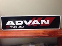 "ADVAN YOKOHAMA METAL SIGN 6"" X 24"""