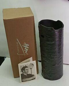 "Michael Aram Bark Vases Small 10"" Signed W Orig box and Paperwork"