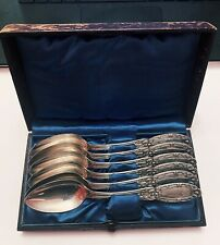 6 Coin Silver Serving Spoon KIDNEY, CANN & JOHNSON/ Original Fitted Box