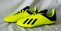 Adidas X 18.4 FxG NEW Boys DB2420 Yellow with Black Soccer Cleats Size 5.5