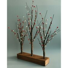 21-Inch Illuminated Pip Berry Tree Tabletop LED Lights Rustic Home Indoor Decor