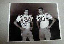 JOHNNY ROBINSON SIGNED 9x11 PHOTO AUTOGRAPH 1958 LSU NCAA FOOTBALL CHAMPS