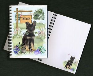German Shepherd Dog Notebook/Notepad + small image on every page by Starprint