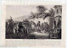 Napoleon I. Aquatinta 1815 Militaria