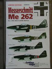 1/48 Cutting Edge MESSERSCHMITT Me 262 four aircraft Luftwaffe Decals OOP rare