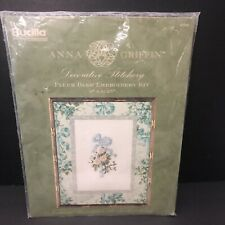 Bucilla Anna Griffin Silk Ribbon FLEUR BLEU Embroidery Kit Sewing Project NEW