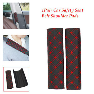1Pair Car Safety Seat Belt Shoulder Pads Cushion Harness Protector Pad Hook Loop