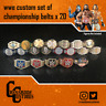 20 x Custom Wrestling WWE Championship Belts for Mattel/Jakks/Hasbro Figures