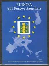 """BRD / Bund Sonderblatt """" Europa auf Postwertzeichen """" m. Sonderstempel"""