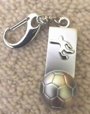 Silver color Football Watch Keyring Pocket watch chain watch fob watch New
