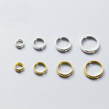 925 Sterling Silver Hole Ring Circle Spacer Fit Beads DIY Charm A2451