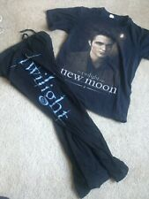 Twilight Movie Pajama Pants & New Moon T-shirt Edward Bella Hot topic AM Medium