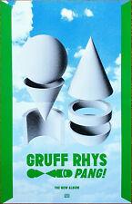 GRUFF RHYS Pang! 2019 Ltd Ed RARE New Poster! SUPER FURRY ANIMALS NEON GORILLAZ