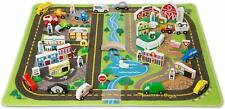 Activity Play Rug Road Set with Vehicles and Play Pieces Gift - Melissa & Doug