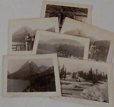 6 photos 1929 GLACIER NATIONAL PARK Mt Rainier St Mary LAKE chalet Going Sun Mtn