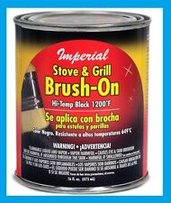 IMPERIAL 1200-Degree F Brush-On Flat Stove Paint, 16 Fluid Ounce, Black #CH0134