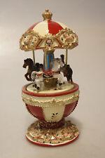 Dekoratives Pferde-Karussel mit Spieluhr