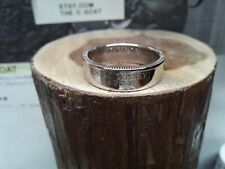 """"""" New Jersey """" Size 9 1/4 Custom Made Coin Ring U.S. State Quarter"""