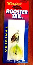 Worden's Chartreuse Rooster Tail  Spinner Fishing Lure