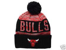 "Chicago Bulls Mitchell and Ness ""NBA Team Color Jacquard Stripe Pom Knit Toque"