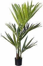 New! Nearly Natural Beautiful 4' Kentia Artificial Palm Silk Tree Black Planter