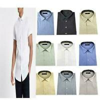 Mens summer short sleeve shirt office casual smart formal NEW choice of colour