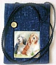 BEARDED COLLIE DOG DESIGN FABRIC SMART PHONE POUCH SANDRA COEN ARTIST PRINT SEW