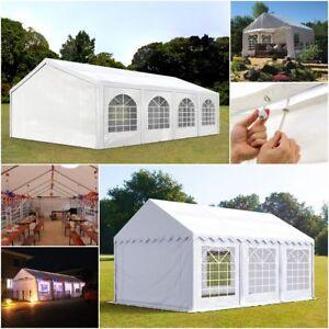 Pavillon 3x2-6x12m Festzelt Partyzelt Gartenzelt Unterstand PE PVC mit Fenstern
