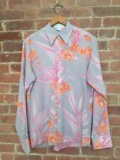 Paul & Joe Men's Shirt Size Large Slim Fit Pink/Violet Floral, France