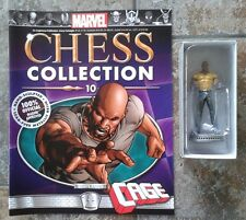 Marvel Chess Collection #10 Cage White Pawn Resin Figure & Magazine