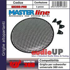 Griglia metallica professionale a maglie larghe con clip fissaggio diam. 380 mm