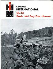 International GL-13 Bush and Bog Disc Harrow brochure