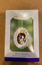 Hallmark Keepsake Easter Ornament 2002 Bunny Business Egg Handcrafted New in Box