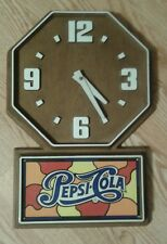 "Vintage Pepsi Advertising Wall Clock-Original  20"" x 13"" NM+"