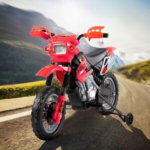 HOMCOM Moto Eléctrica para Niño 3 Años Batería 6V con Cargador 102x53x66cm