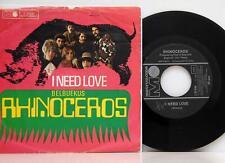 "Rhinoceros       I need love  /  Belbuekus       Metronome       7""      NM # F"