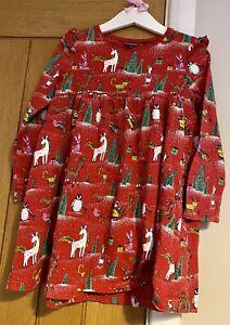 Next Girls Beautiful Red Character Unicorn Christmas Dress 4-5 Years 🎅🏻🎄