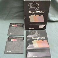 "Lotus 123 Report Writer Software 5.25"" Floppy Disk User Manual Book Computer 1.0"