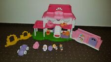 Mattel Fisher Price Y8670  Little People Happy Sounds Haus Puppenhaus