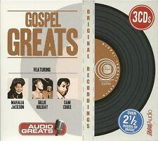 GOSPEL GREATS - 3 CD BOX SET -  MAHALIA JACKSON * BILLIE HOLIDAY & SAM COOKE