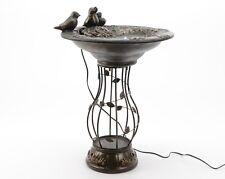 Brunnen Vogel Trinkbrunnen Zierbrunnen Wasserspiel Gartenbrunnen mit LED