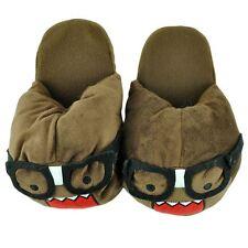 Domo Kun Nerd Face Japanese Animation Cartoon Adult Plush Slippers Small 5/6