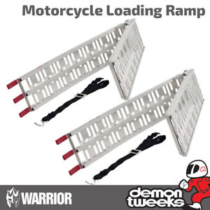 2 x Warrior Folding Quad/Mobility Scooter/Golf Buggy/Lawn Mower Loading Ramps