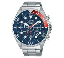 Lorus Gents Date Display Pepsi Dial Watch - RT317GX9 NEW