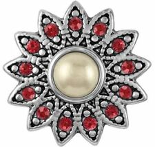 """Get 1 $6.95 Snap Free sn19-23 Ginger Snaps Jewelry """"Siam Floret� Buy 4"""