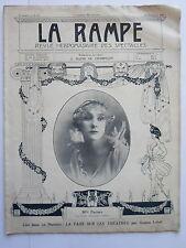Melle PARISYS REVUE SPECTACLES la RAMPE THEATRE CONCERT MUSIC-HALL  n° 50 1916