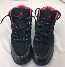 Nike Air Jordan Girls Shoes Black Pink Lace Up Youth Size 5 Y Free Shipping