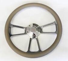 "67 68 Pontiac GTO Firebird Steering Wheel Grey and Billet 14"" Shallow Dish"