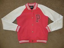 VICTORIA'S SECRET LOVE PINK WHITE PATCH VARSITY JACKET COAT HOODIE ALL SIZES NWT